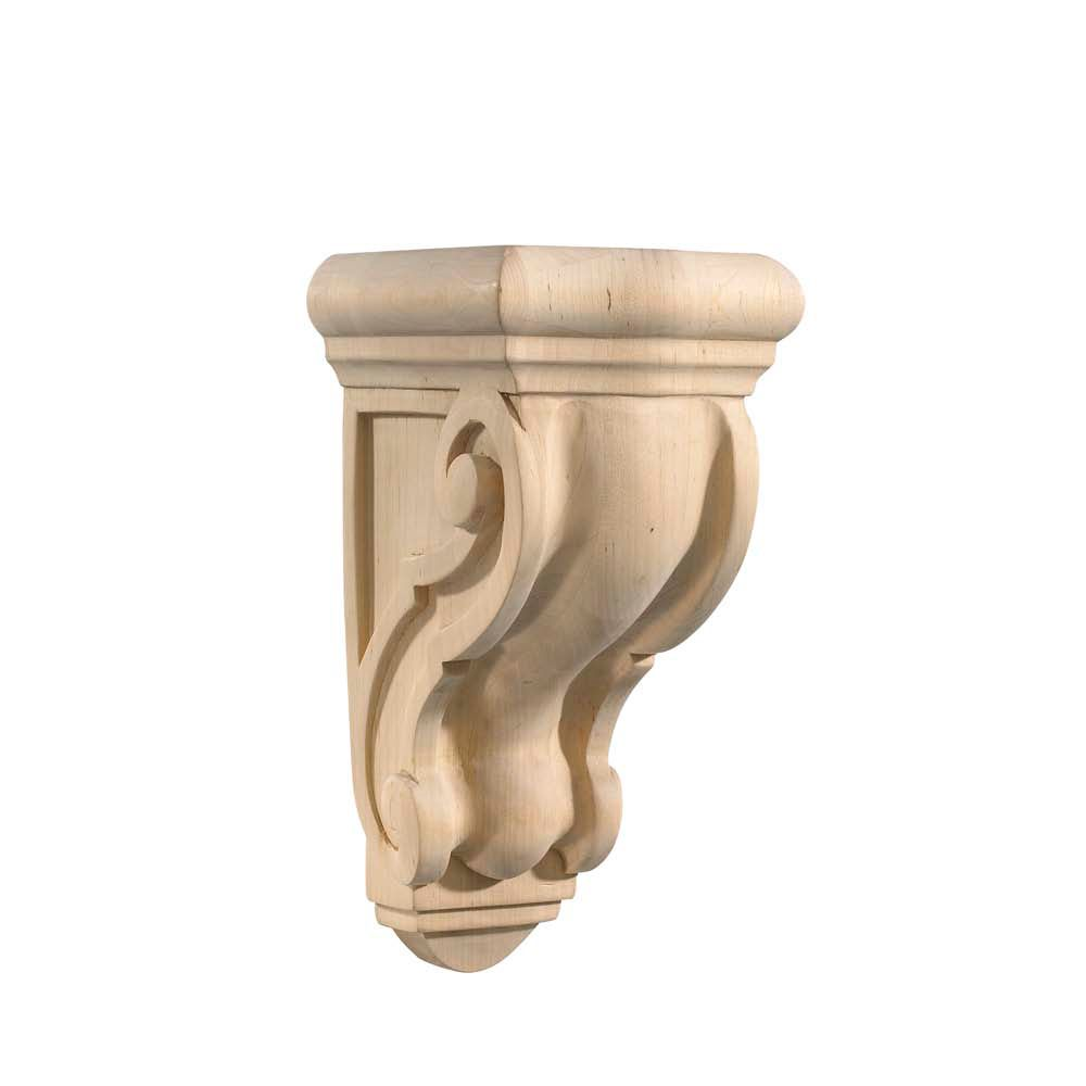 Maple Scroll Counter Support Corbel 5-1/2 X 4-5/8 X 9-13/16
