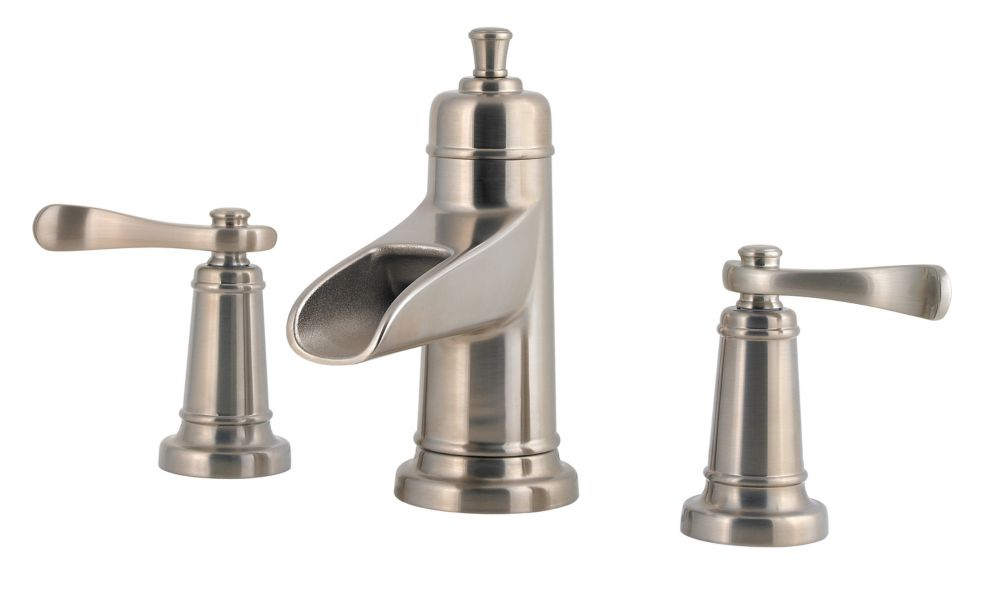 Ashfield 8-inch Widespread Trough Bathroom Faucet in Brushed Nickel Finish