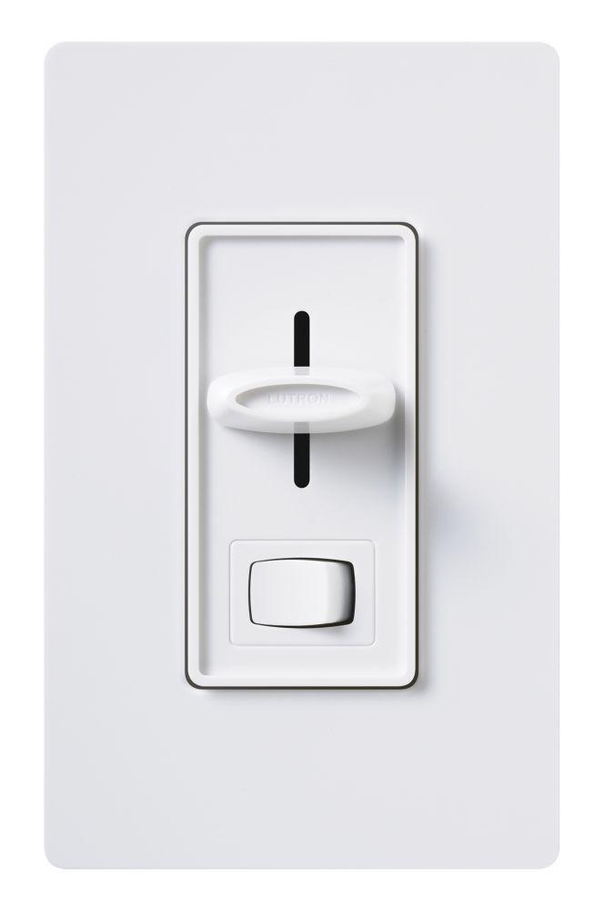 Lutron Lutron Skylark 600-Watt Single Pole Eco-Dim Dimmer, White