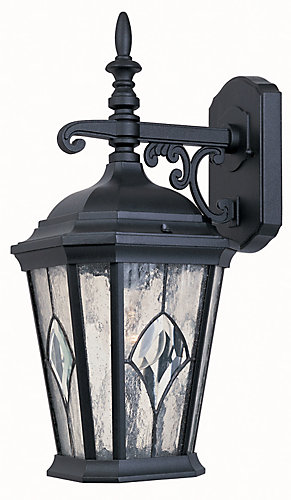Hampton bay one light outdoor wall lantern black finish the home hampton bay one light outdoor wall lantern black finish the home depot canada aloadofball Choice Image