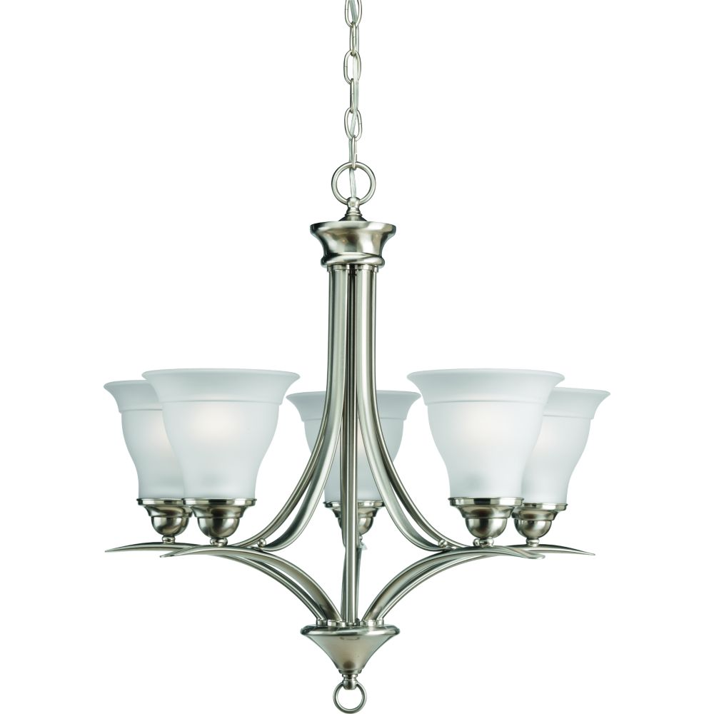 Progress Lighting Trinity Collection Brushed Nickel 5 Light Chandelier The Home Depot Canada