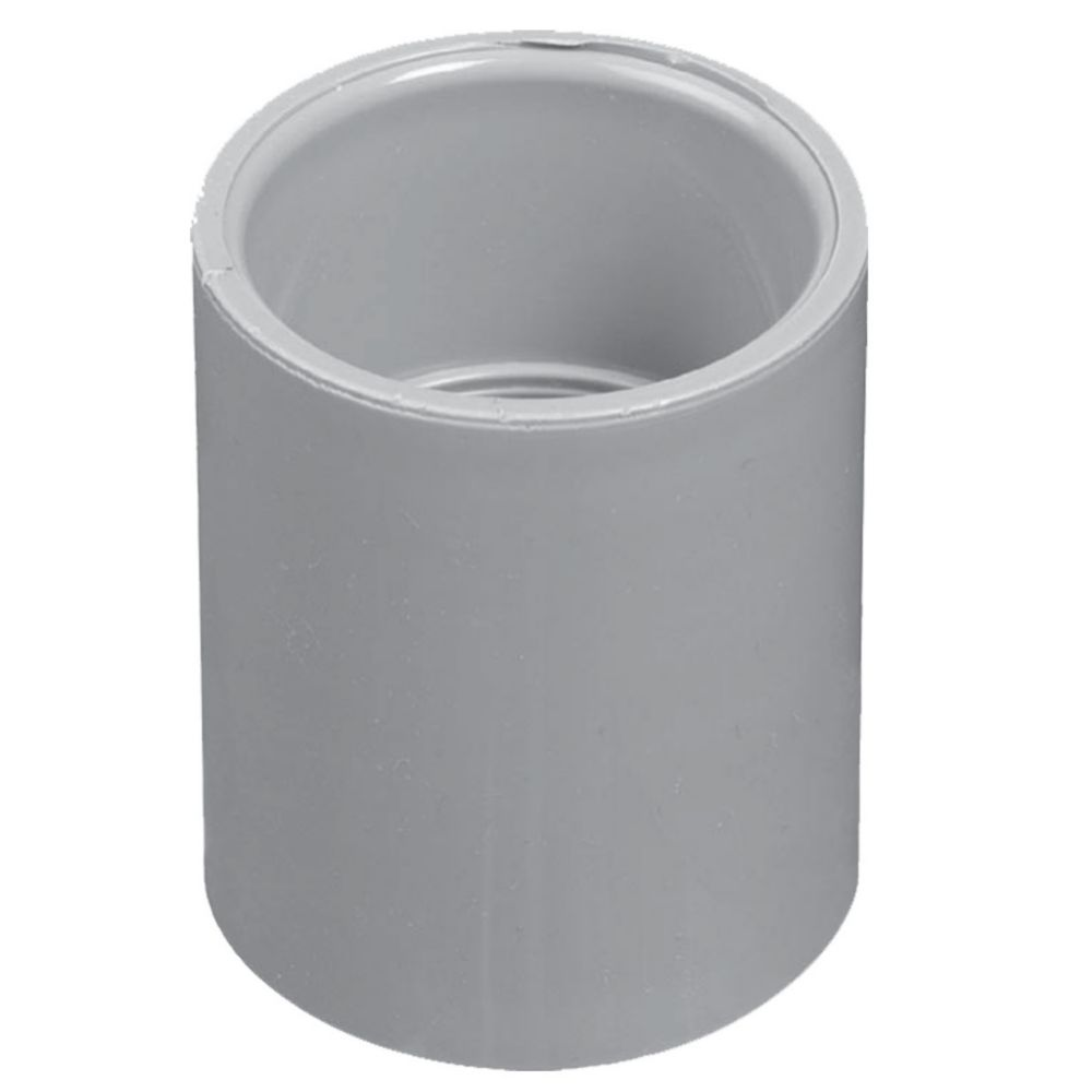 Schedule 40 PVC Coupling 1/2 Inch (Bag of 10) CPLG-050-B10 Canada Discount