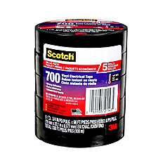 Scotch 700 Commercial Grade Vinyl Electrical Tape (5-Pack)