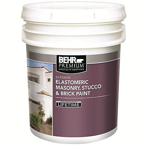Elastomeric Masonry, Stucco & Brick Paint, White Base, 18.3 L