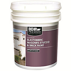 BEHR Elastomeric Masonry, Stucco & Brick Paint, White Base, 18.3 L