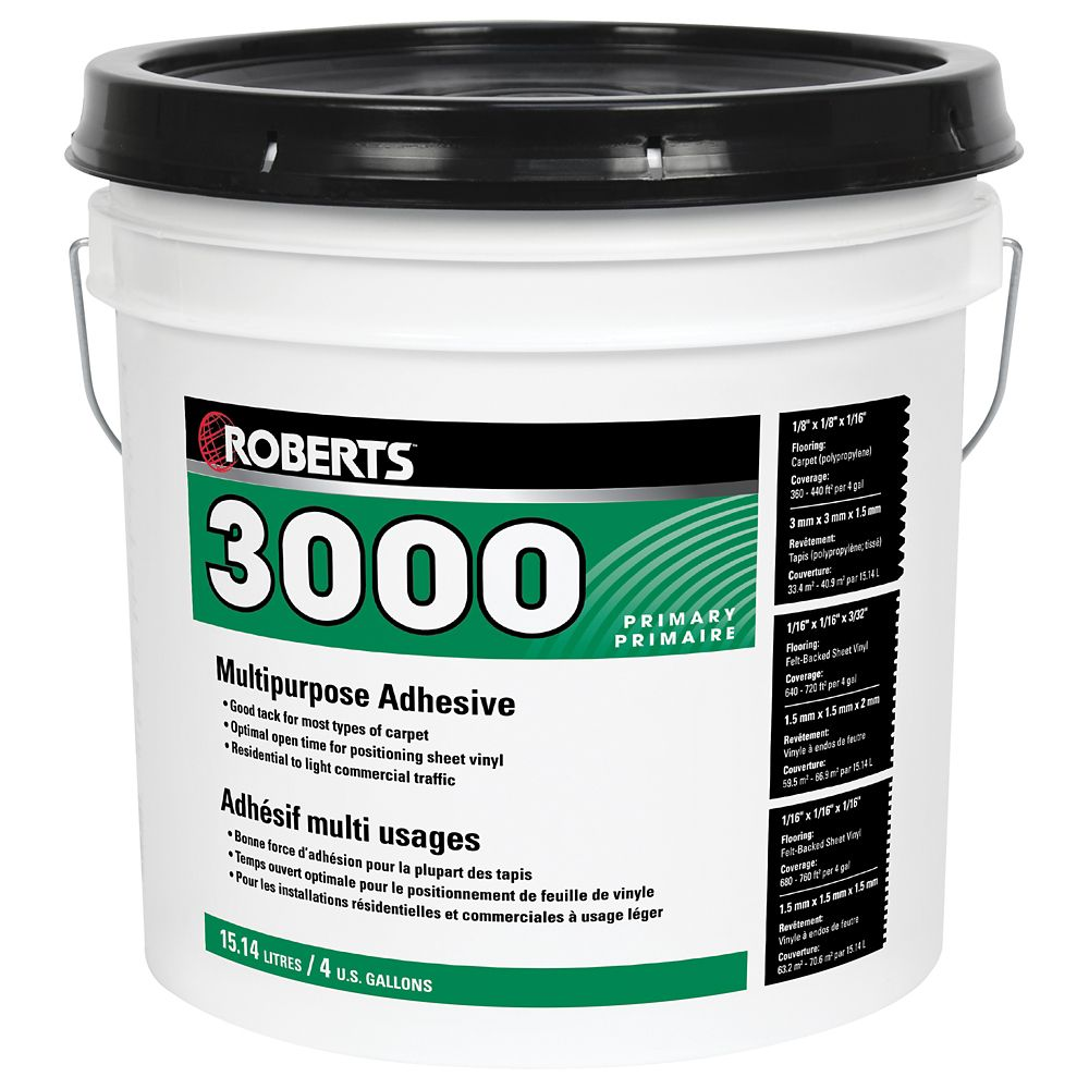3000, 15L Multi-Purpose Carpet and Sheet Vinyl Adhesive and Glue