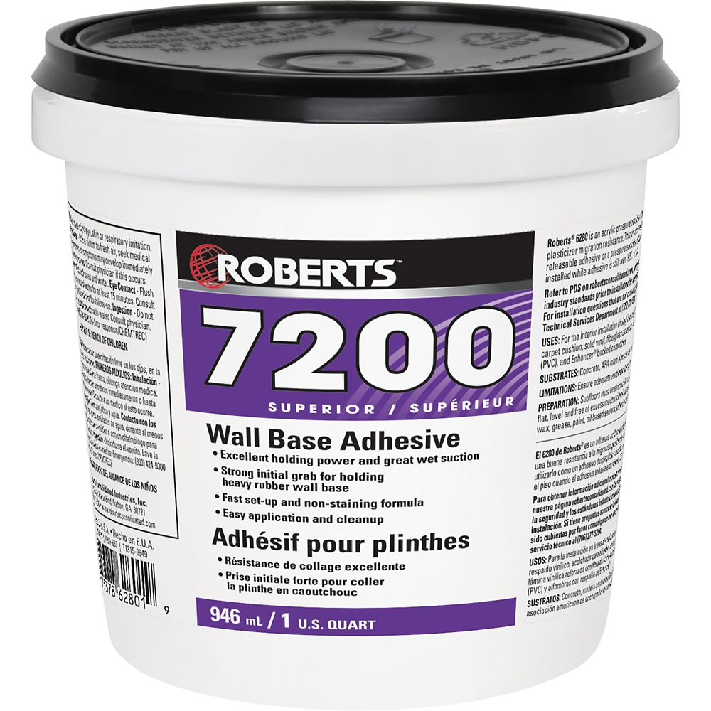 Roberts 7200, 946mL Wall Base Adhesive, Superior Grade
