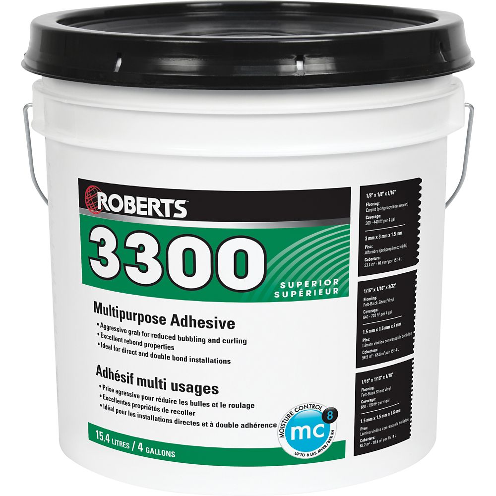 3300 Max, 15L Performance+ Carpet and Sheet Vinyl Flooring Adhesive and Glue