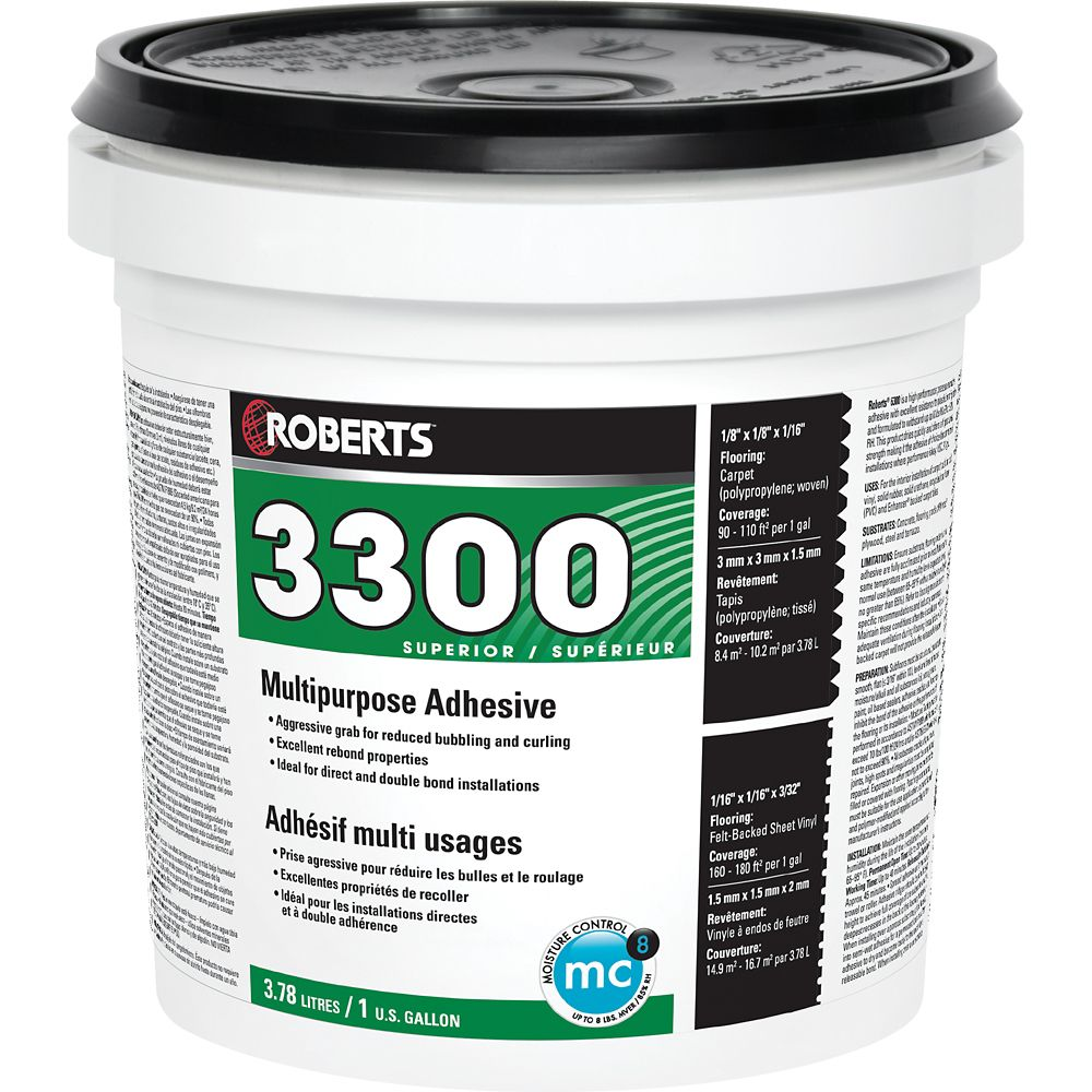 3300 Max, 3.78L Performance+ Carpet and Sheet Vinyl Flooring Adhesive and Glue