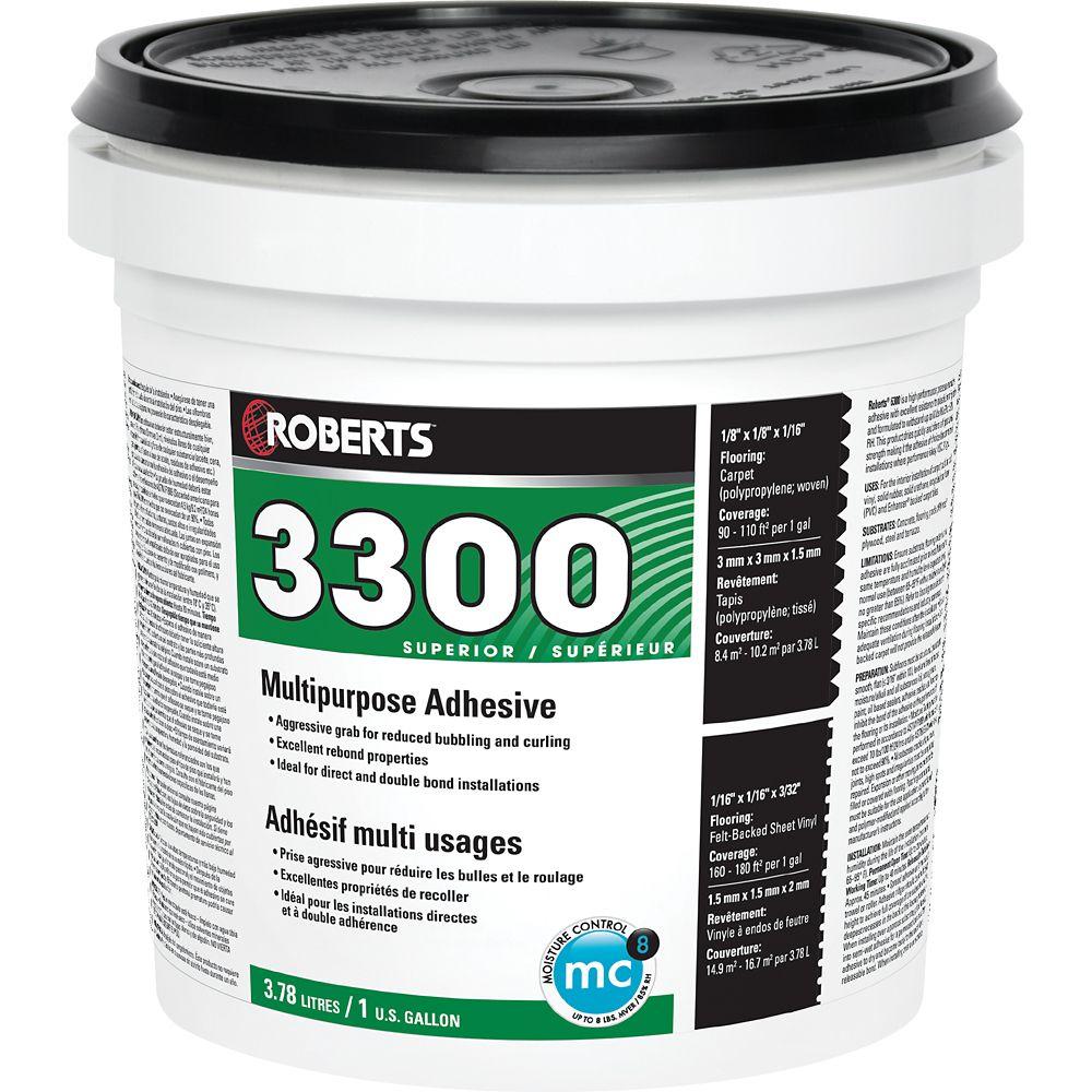 3300 Max, 3.78L Performance+ Carpet and Sheet Vinyl Flooring Adhesive and Glue