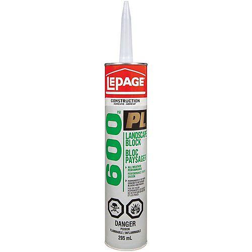 LePage PL 600 Landscape Block Adhesive 295mL
