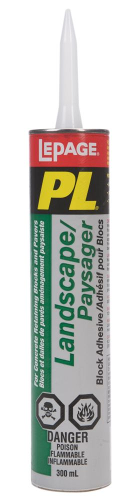 Landscaping Block Glue : Lepage pl landscape block adhesive ml the home