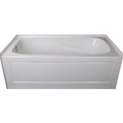 Mirolin Sydney 5-ft.. Rectangular Left-Hand Alcove Acrylic Non-Whirpool Bathtub in White