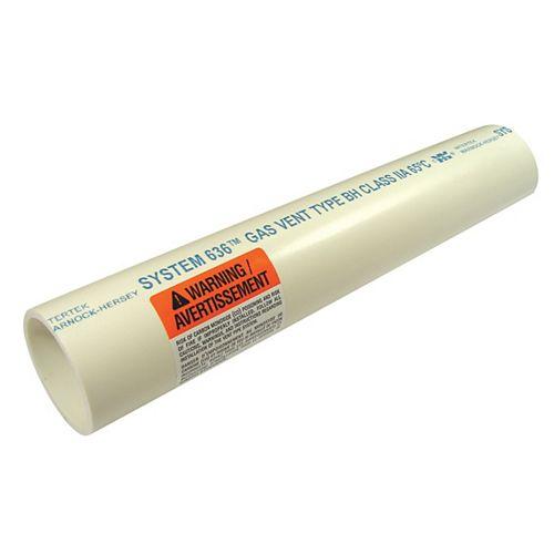 IPEX HomeRite Products TUYAU D ftÉVACUATION DE GAZ DE COMBUSTION EN PVC Système 636 2 inches x 10 ft