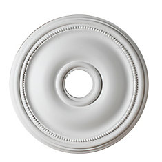 18-inch Medallion, Matt White Finish