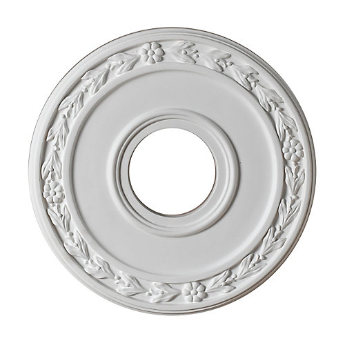 30,48cm Medallion, fini matte blanc