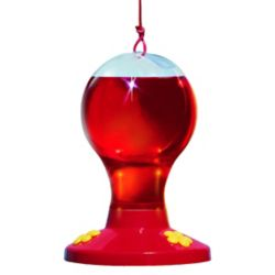 Garden Song Clear Plastic Hummingbird Feeder