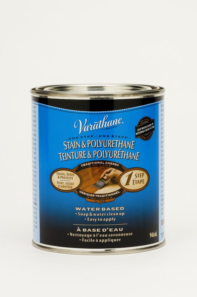 Varathane Stain & Poly (Water Int.) - Traditional Cherry (946ml)