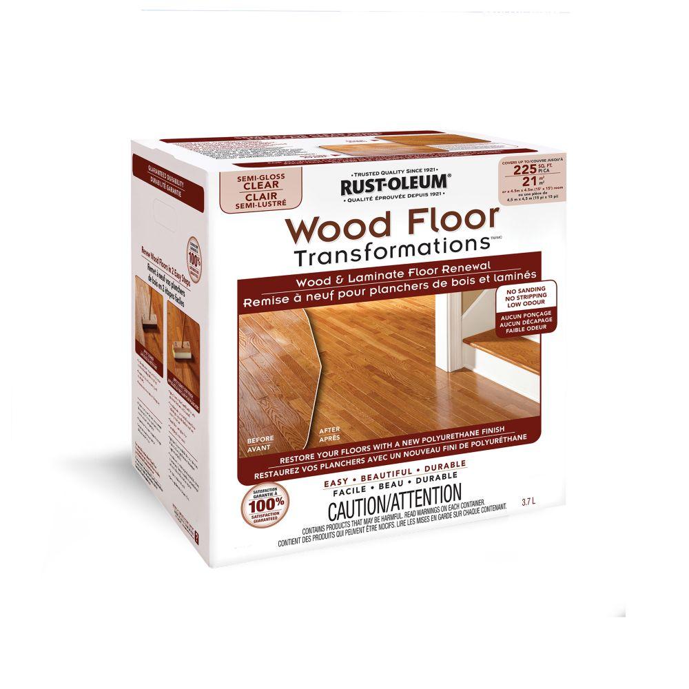 Rust-Oleum Rust-Oleum Transformations Wood Floor Semi-Gloss Kit