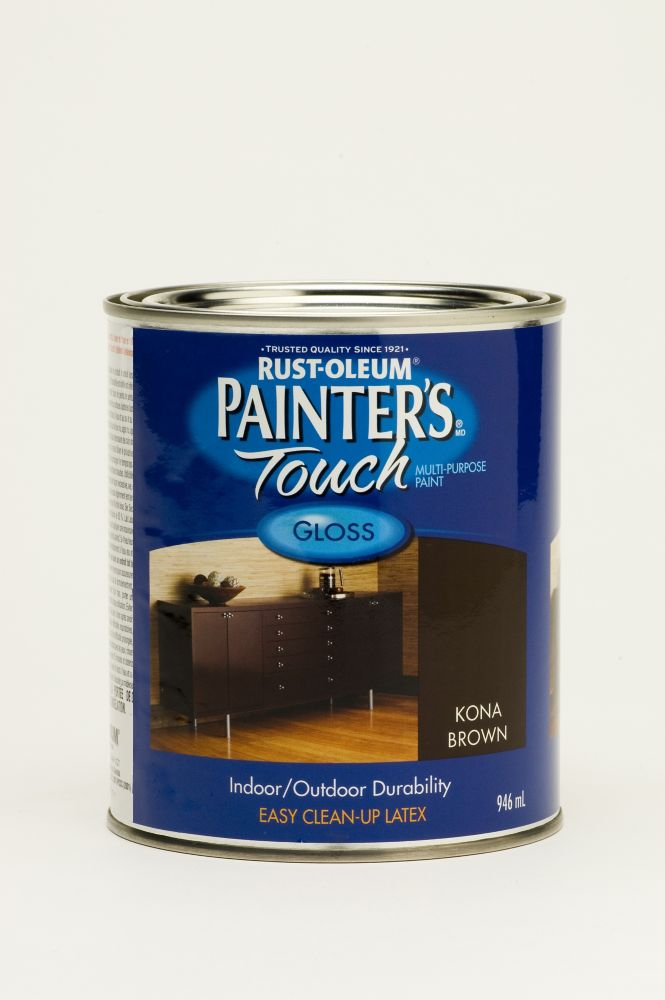 Painter's Touch Multi-Purpose Paint - Gloss Kona Brown (946ml)