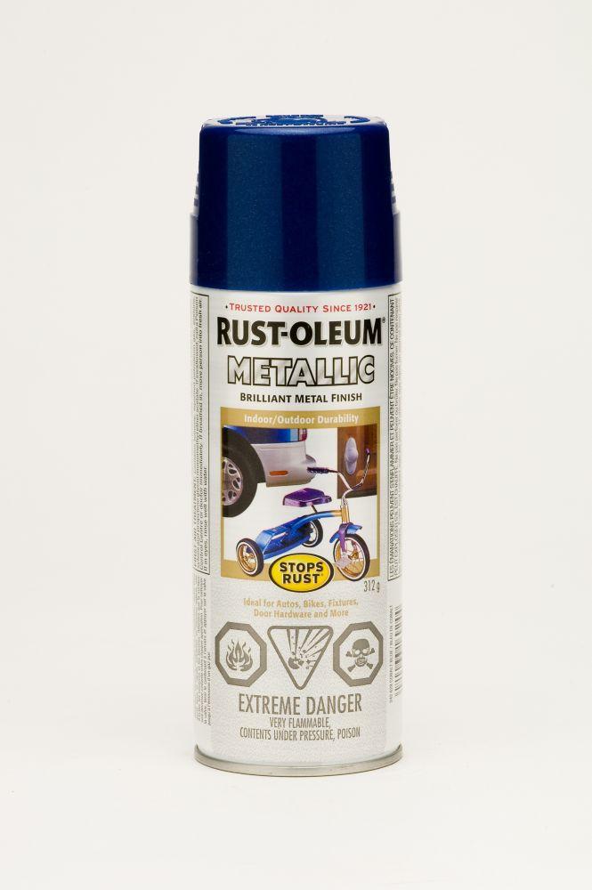 Stops Rust Outdoor Metallic Cobalt Blue 312G