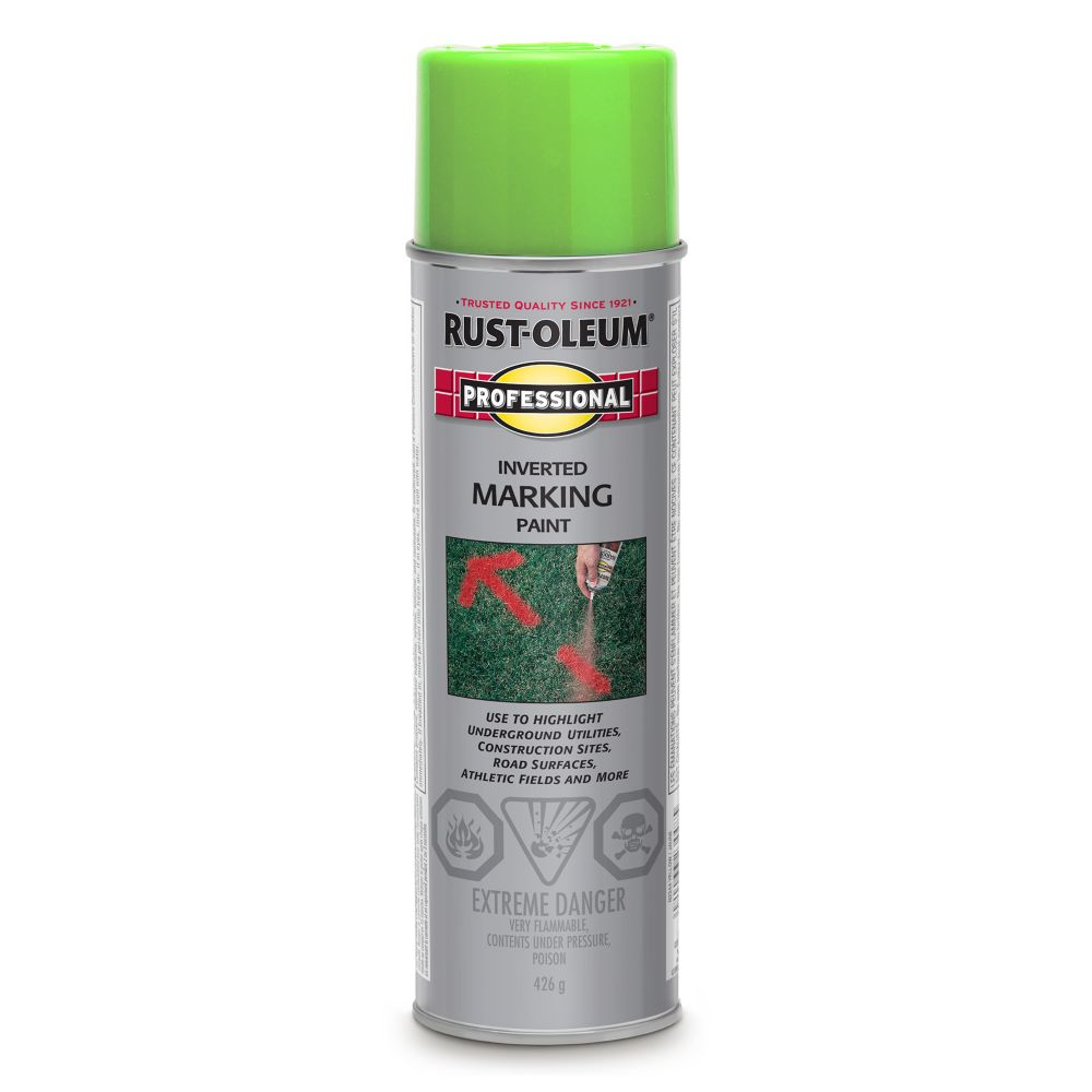 Inverted Marking Paint - Fluorescent Green
