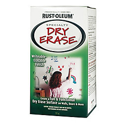 Rust-Oleum Specialty Dry Erase Paint Kit In White, 797 mL