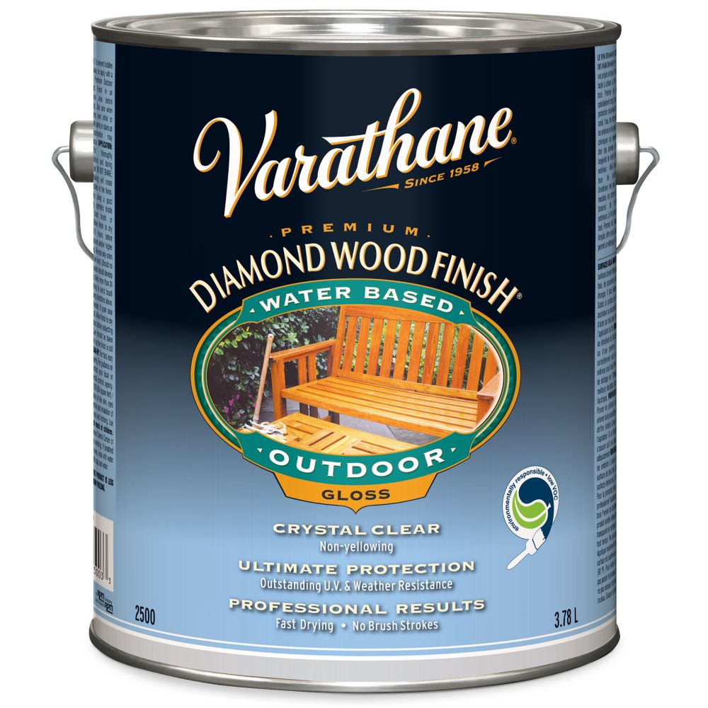 Diamond Wood Finish - Outdoor (Water, Gloss) (3.78L)