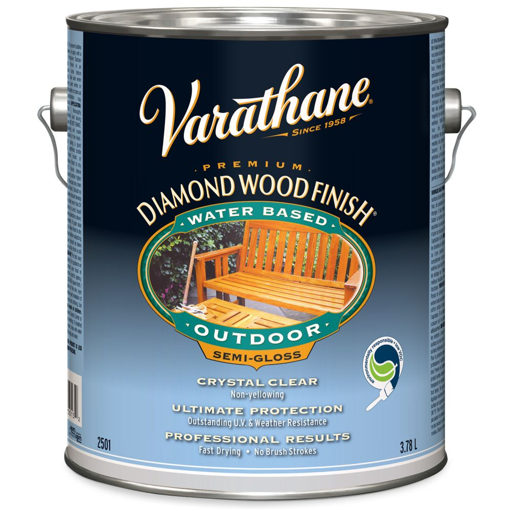 Diamond Wood Finish - Outdoor (Water, Semi-Gloss) (3.78L)