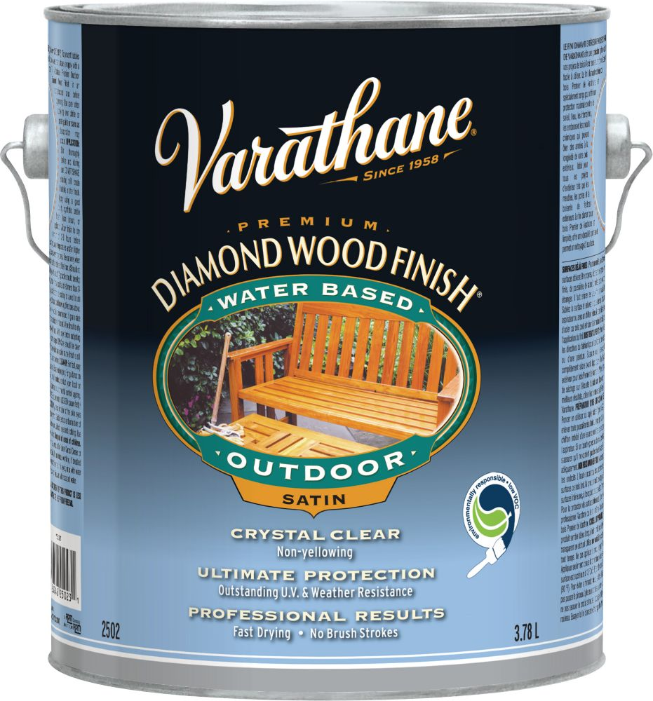 Diamond Wood Finish - Outdoor (Water, Satin) (3.78L)