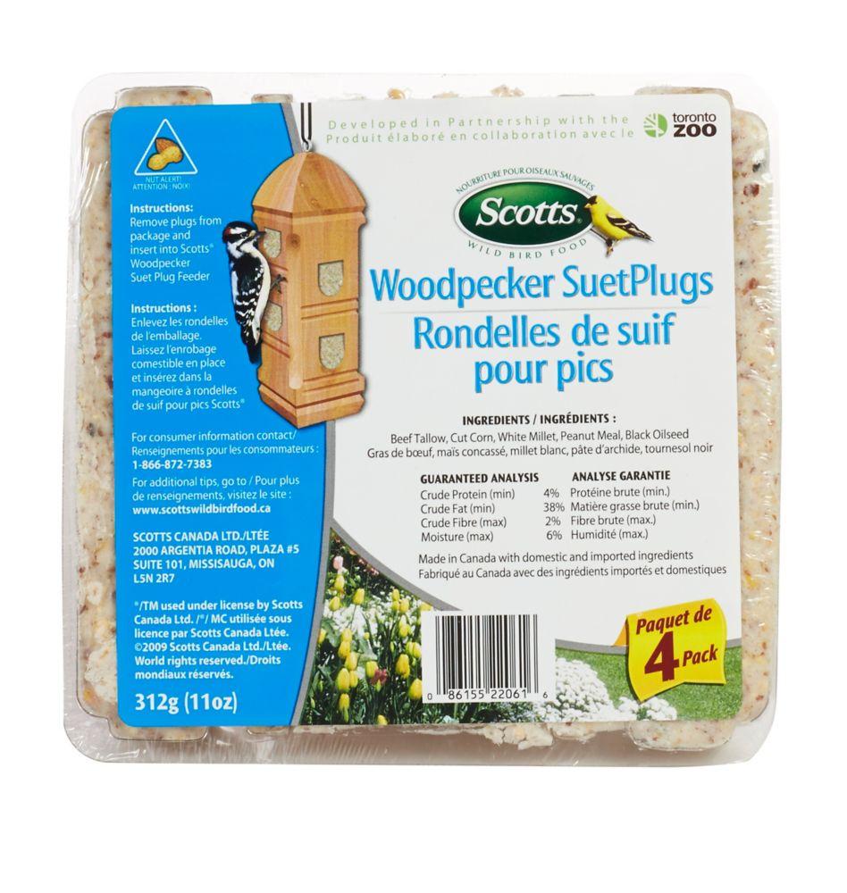 SCOTTS WOODPECKER SUET PLUGS 4 PACK 312G