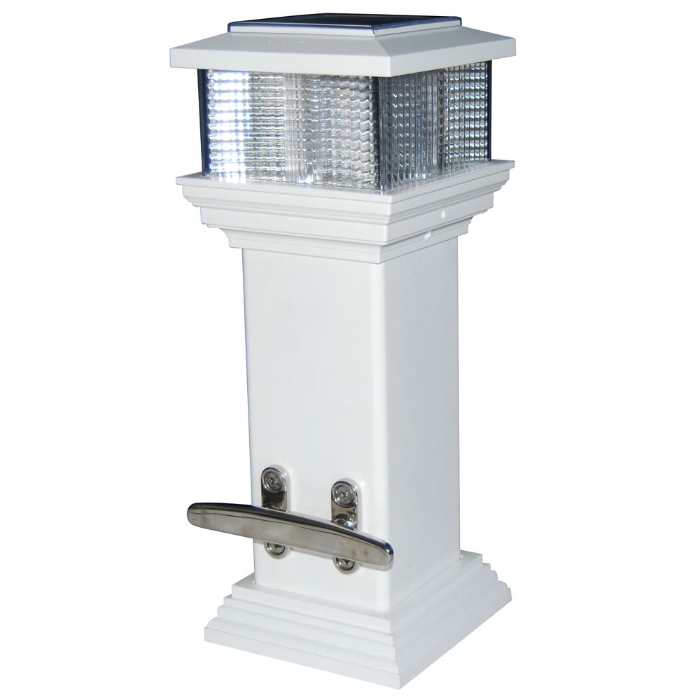 Dock Light Solar, With Cleat And Solar Light