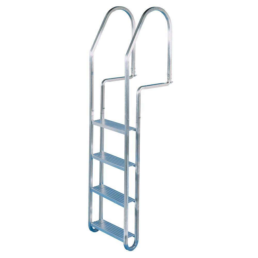 Dock Edge 4-Step Aluminum Quick-Release Dock Ladder