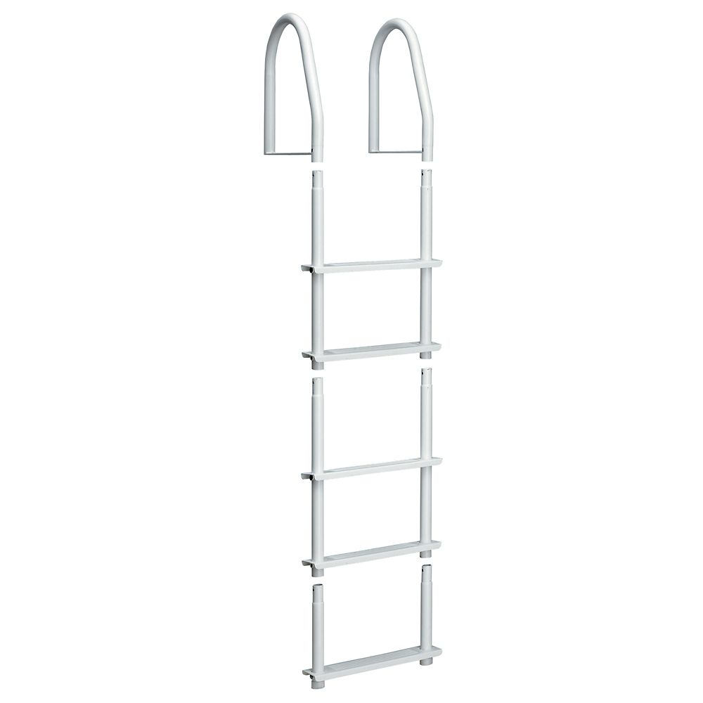 Dock Ladder, White Galvalume, 5 Step Fixed