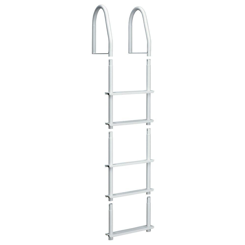 Dock Ladder, White Galvalume, 5 Step Fixed