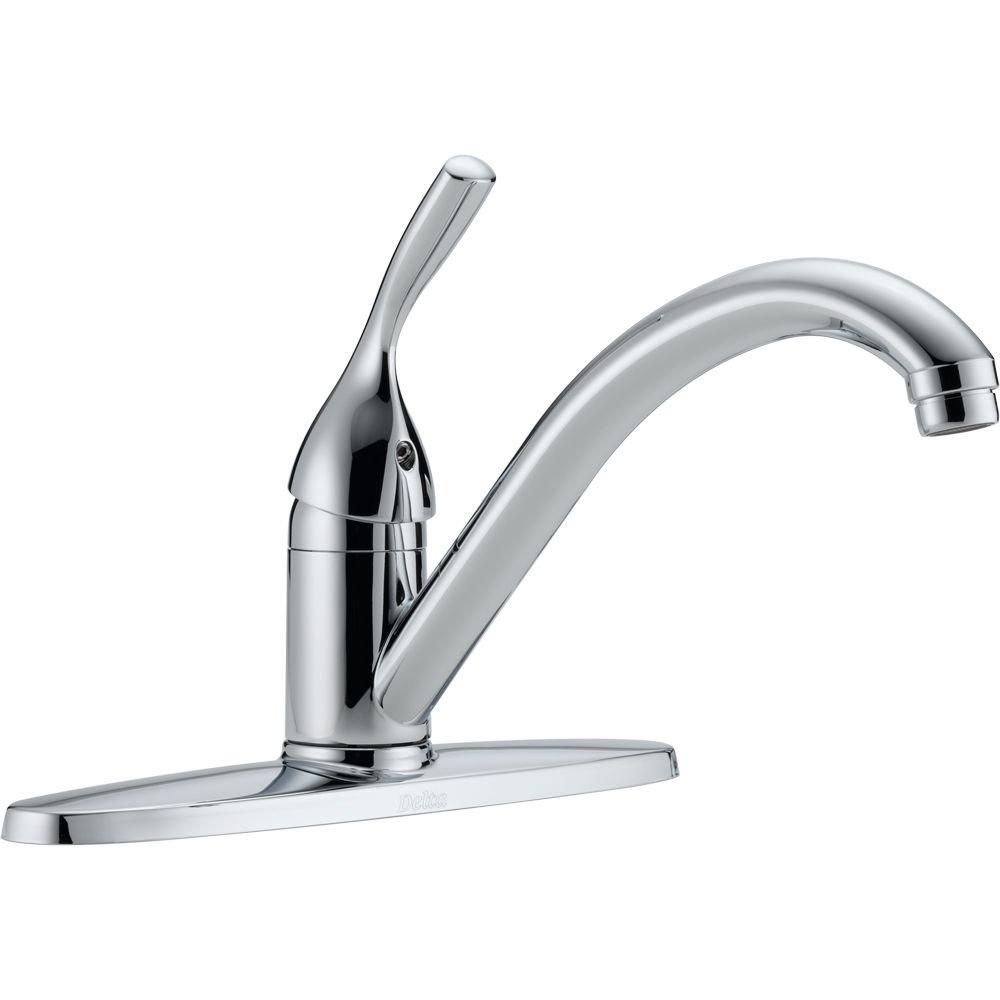 Classic Single Handle Kitchen Faucet, Chrome