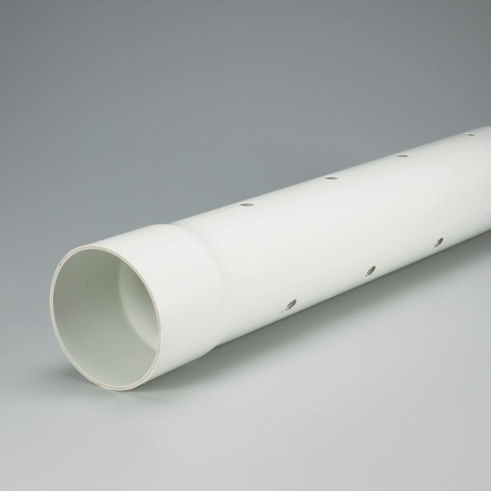 TUYAU D ftÉGOUT EN PVC PERFORÉ - ÉcolotubeMD NS Spec. 4 inches x 10 ft