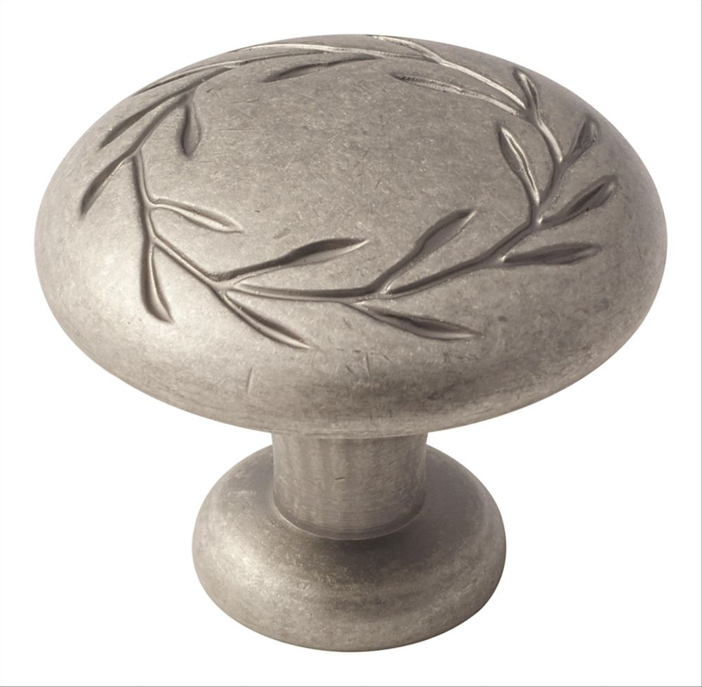 Amerock Inspirations 1-3/4-inch (44mm) DIA Knob - Weathered Nickel