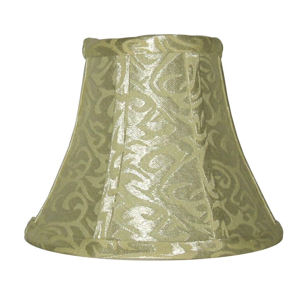 12,7cm Abat-jour cloche platine / ivoire