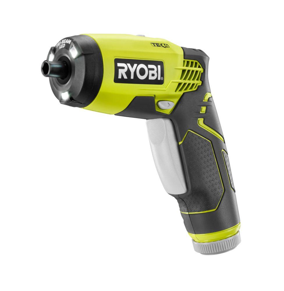 ryobi 4v lithium ion screwdriver kit the home depot canada. Black Bedroom Furniture Sets. Home Design Ideas