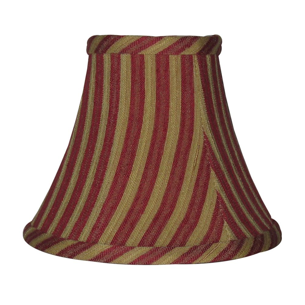 5 Inch Claret / Gold Stripe Lamp Shade