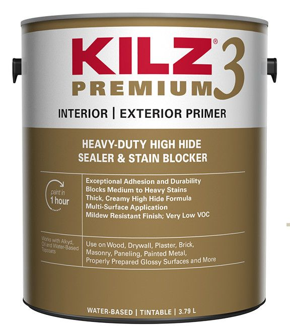 Premium Interior/Exterior Primer, Sealer, Stainblocker - 3.79L
