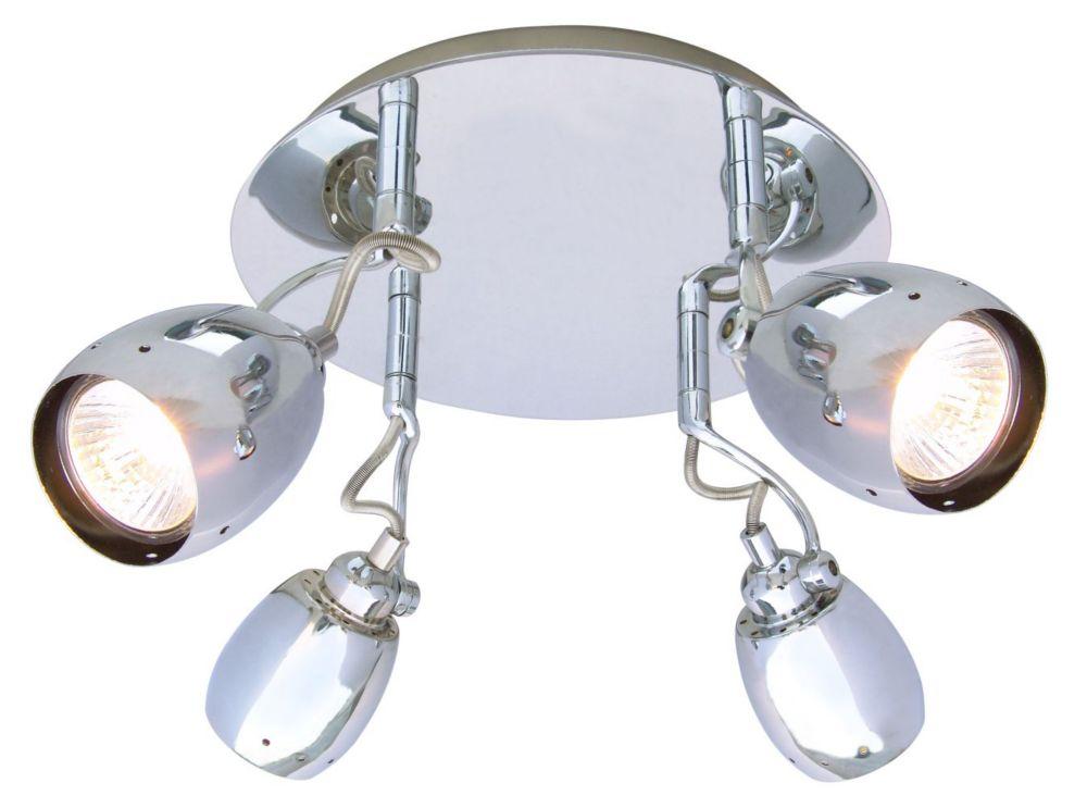 Plafonnier à 4 Lumières, Collection Egon