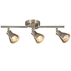 Hampton Bay 3-Light Ceiling Track Light in Brushed Nickel