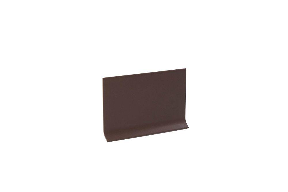 Vinyl Wall Base Self Stick, Brown - 4 Inch