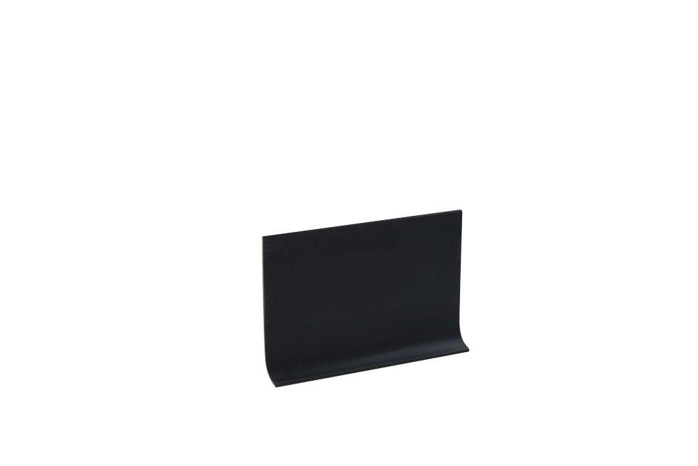 Vinyl Wall Base Self Stick, Black - 4 Inch