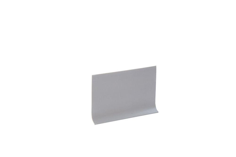 Vinyl Wall Base, Grey - 4 Inch