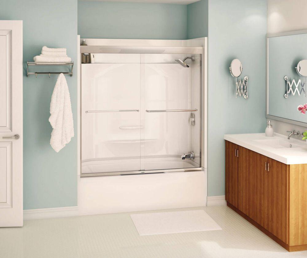 Tonik 2-Panel Frameless Tub Shower Door 59 1/2 Inches