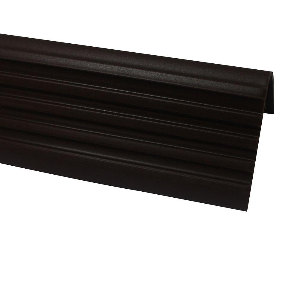 Shur Trim Vinyl Stair Nosing,  Brown - 1-7/8 Inch