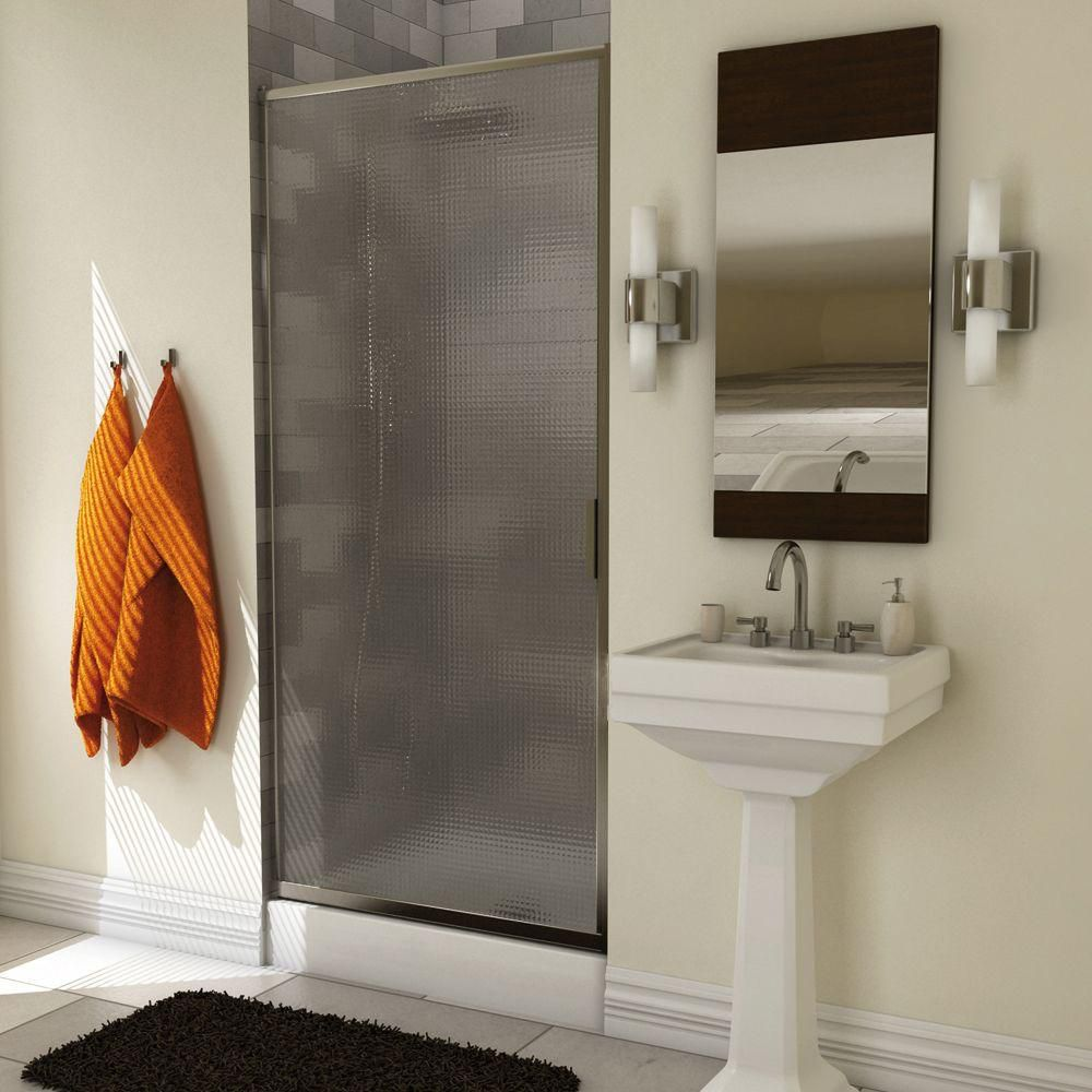 Maax Soul 2 Panel Chrome Framed Shower Door 59 1 2 Inches